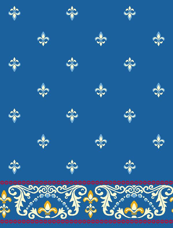 Bilali Habeşi Mavi Saflı Cami Halısı