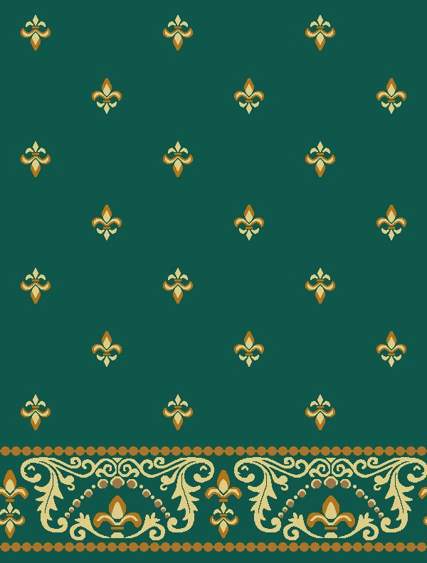 Bilali Habeşi Yeşil Saflı Cami Halısı