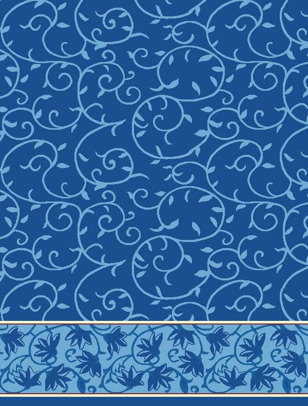 Ceylani Mavi Saflı Cami Halısı