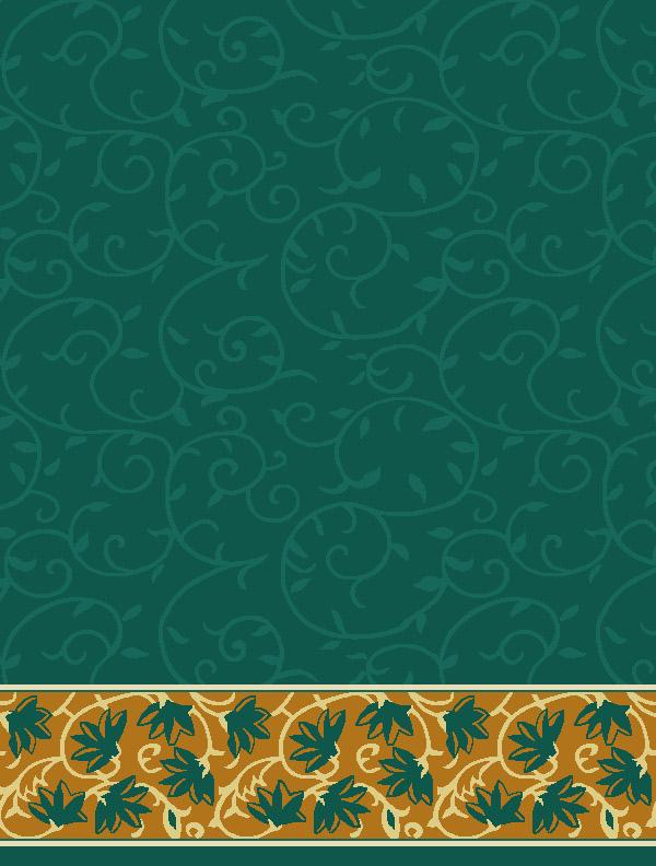 Ceylani Yeşil Saflı Cami Halısı
