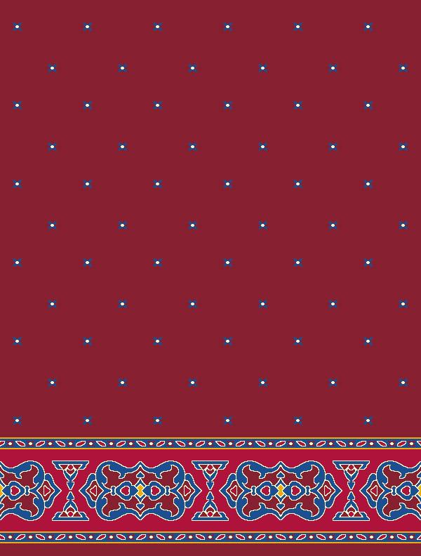 Darülhadis Kırmızı Saflı Cami Halısı