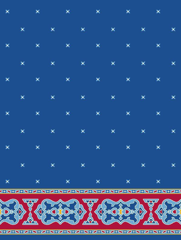 Darülhadis Mavi Saflı Cami Halısı