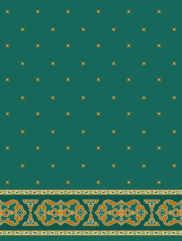 Darülhadis Yeşil Saflı Cami Halısı