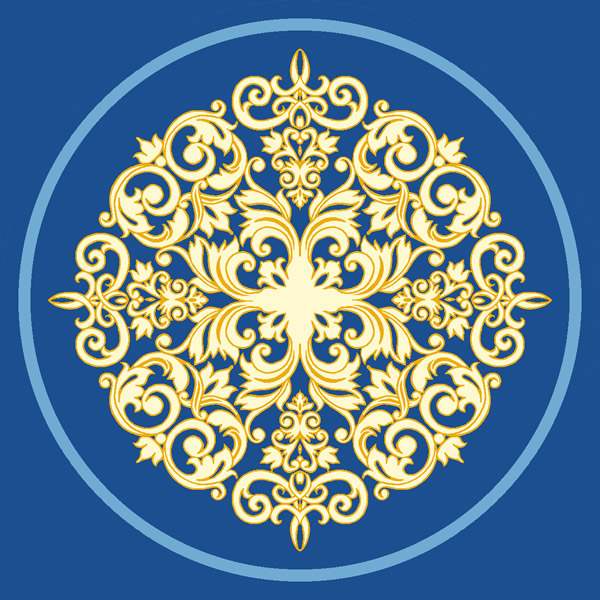 Mihrimah Sultan Mavi Göbekli Cami Halısı