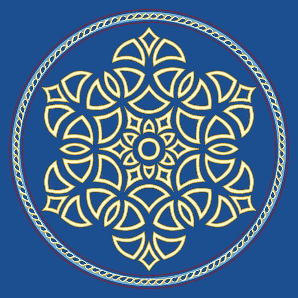 Şah Sultan Mavi Göbekli Cami Halısı