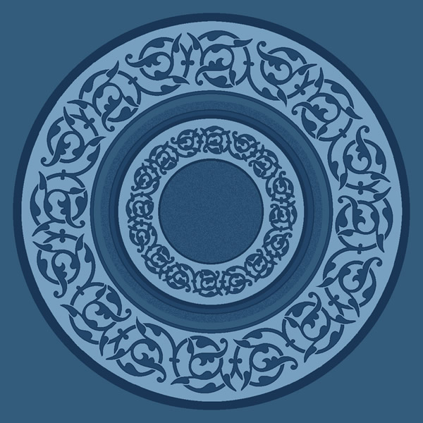 Süleymaniye Antik Mavi Göbekli Cami Halısı